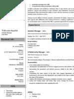 Tribhuvan Resume