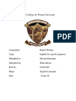 Assignment Report Writing