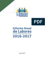 Informe de Defensoría de Habitantes 2016-2017