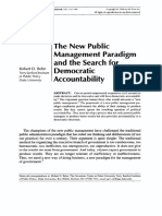 BEHN, R. the New Public Management Paradigm