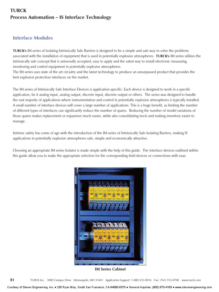 Turck is Barrier - Wiring   Switch   Relay