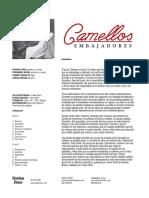 """CAMELLOS - """"Embajadores""""  Hoja Promo"""