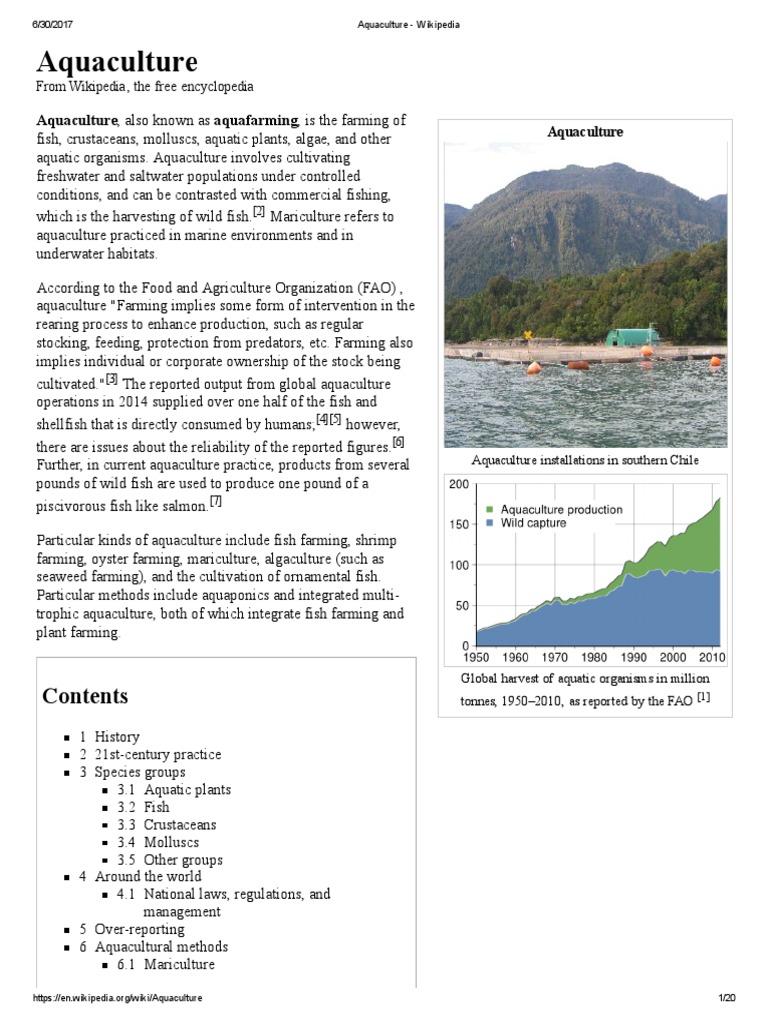 Aquaculture | Aquaculture | Fishery