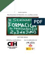Profesores de Español en Los Balcanes%2C Nº1 %282012%29