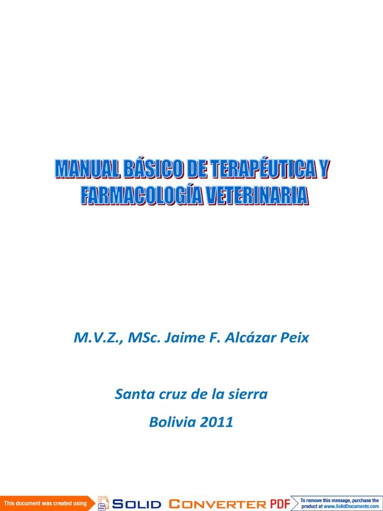 Manual Básico de Terapeutica y Farmacologia Veterinaria pdf