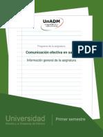 Nces Información General de La Asignatura