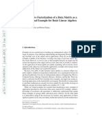 Nonnegative Factorization of a Data Matrix as a Motivational Example for Basic Linear Algebra