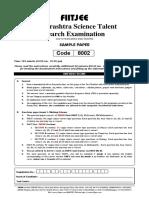 MSTSE 2016 Sample Paper Class 8