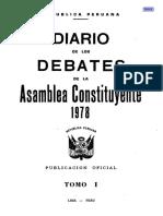 Diario de Debates Constituyente de 1979 Tomo I
