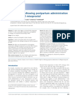 High fever following postpartum administration.pdf