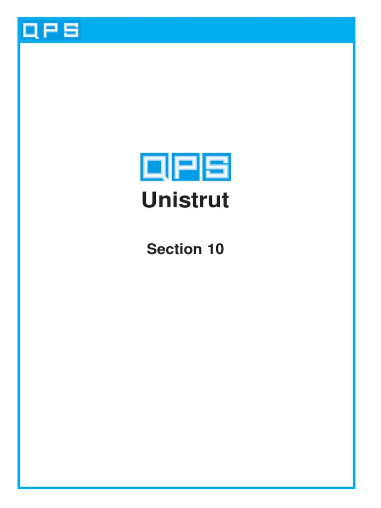 Section 10 - Unistrut pdf | Column | Rolling (Metalworking)