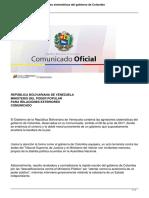 Venezuela condena agresiones de Colombia
