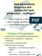 Integrated aquaculture, hydroponics and vermiculture for Rooftop Food Production - Central Queensland University
