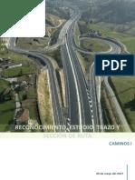 Reconocimiento, estudio, trazo y sección de una ruta