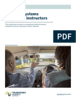 Learning Systems for Driving Instructors