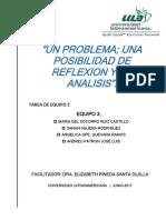 e3_s3_te2_un Problema; Una Posibiliadad de Reflexion y Analisis