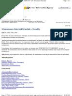 Maintenance Interval Schedule 3512 B