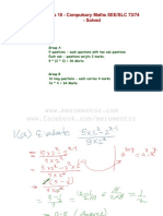 Compulsory Maths Solved