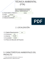 Ficha Técnica Ambiental (Fta)