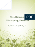 hosa happenings march