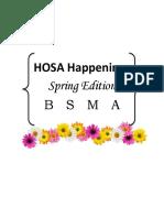 hosa happenings spring  1