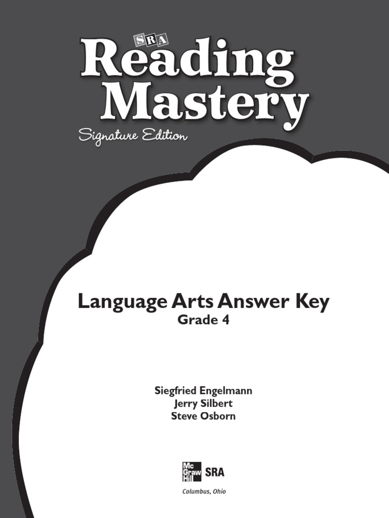 Answer Key Language Arts | Bracket | Free 30-day Trial ...