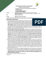 Informe Legal Citación Laboral Exp Int Nº 01771-2015 Caso Fredy Díaz Gutiérrez y Otro