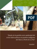 Estado Gestión Socioambiental del Sector Hidrocarburos Chaco y Norte de La Paz 2013
