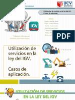Utilización de Servicios en La Ley Del IGV