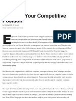 HBR_Mapping Your Competitive Position