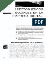 Aspectos Eticos Sociales en La Empresa Digital