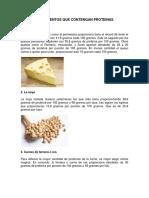10 Elementos Que Contengan Proteinas