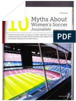 10 Myths About Women's Soccer Journalists