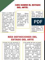 Definiciones Sobre El Estado Del Arte