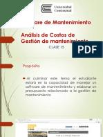Software de Mantenimiento Análisis de Costos de Gestión de mantenimiento