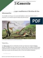 Los 30 Segundos Que Cambiaron El Destino de Los Dinosaurios _ Tecnología _ Ciencias _ El Comercio Perú