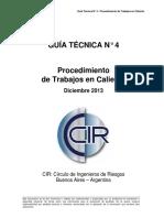 CIR GT4-Permisos de Trabajo en Caliente Dic 2013