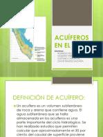 Acuíferos en El Perú