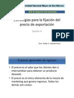Ses4_Estrategias Para La Fijación Del Precio de Exportación