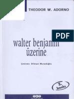 Adorno Walter Benjamin Üzerine YKY Cogito