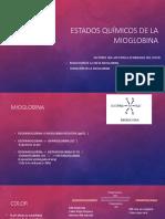 Estados Químicos de La Mioglobina