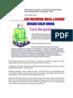Manfaat Sholat Dhuha Sangat Luar Biasa