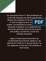 Balance de La RESISTENCIA (01 Abril Al 31 Mayo 2017)