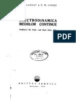 L. D. Landau, E. M. Lifshitz  Electrodinamica mediilor continue