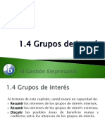 1.4 Grupos de Interés
