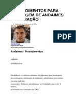 Procedimentos Para Montagem de Andaimes e Liberação