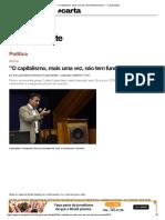 _O Capitalismo, Mais Uma Vez, Não Tem Funcionado_ — CartaCapital