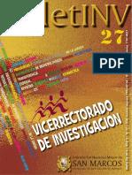 Boletinv_27_ Vicerrectorado de Investigacion_areas y Lineas
