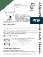 Planificación por objetivos, de un taller