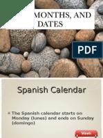 Days Months Dates PowerPoint Slideshow Presentation